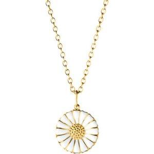 georg jensen, hvitfeldt, smykker, ure, sølv, marguerit, daisy, halskæde, forgyldt sølv, emalje, halskæde