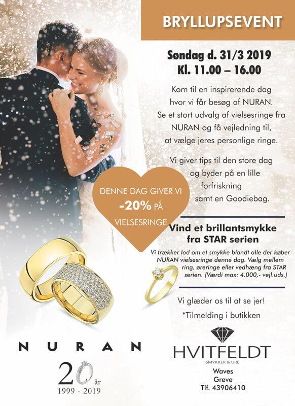 hvitfeldt smykker og ure, bryllup, vielsesringe, forlovelsesringe, ringe, ring, guld, sølv, wedding