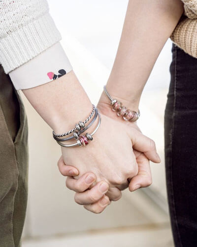 Hvitfeldt smykker og ure, trollbeads, kærlighedens bånd, mors dag, vedhæng, bead, sølv, armbånd, morsdag, mor, gave, gaveide